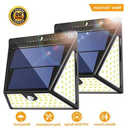 Solar Motion Sensor Lights Outdoor, Luposwiten 82 LED Super