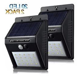 Solar Motion Sensor Outdoor Lights,20 LED Solar Deck Lights
