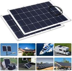 Solar Panel 100w 18v 12v Charger Mono Flexible Cell MC4 Conn