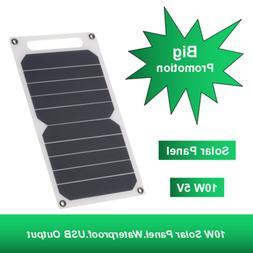 Solar Panel 10W 5V Ultra Mini USB Port IP65 Waterproof Phone