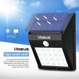 Suaoki Solar Panel 20 LED Light 1W 160LM Rechargeable Lamp L