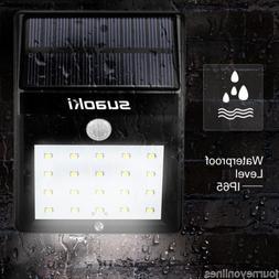Suaoki solar panel 20 LED light 1W 800mAh Rechargeable Batte