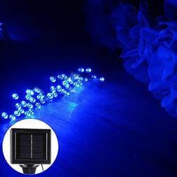 20m 1600-2400LM Solar Panel 200 LED Festival Fairy String Li