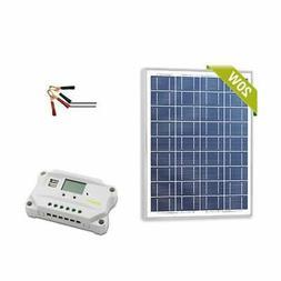 Solar Panel 20w Watt 12v  + PWM 10a 12v Smart Charging Contr