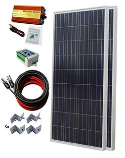 ECO-WORTHY 300 Watt  Solar Panel Kit + 1000 Watt 24V-110V Pu