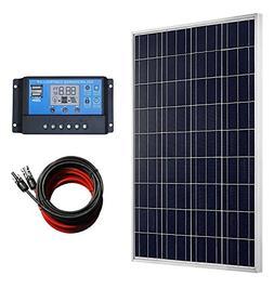 ECO-WORTHY 100 Watts Solar Panel + 20A LCD Display PWM Charg