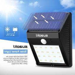 suaoki solar panel 800mAh 20 LED Solar Motion Sensor Light W