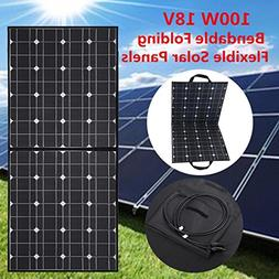 Solar Panel, MOHOO 100W Bendable Foldable Thin Lightweight S