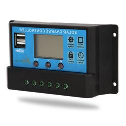 CoZroom LCD Solar Charger Controller/Regulator with Intellig