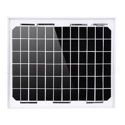 NUZAMAS 10W 12V Solar Panel Aluminium Frame Battery Charger