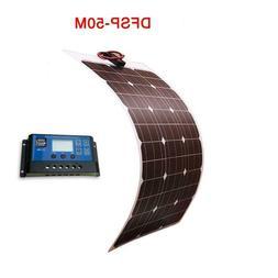 Solar Panel Battery 50W 24v Controller Fishing Boat Cabin Ca