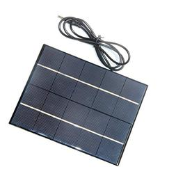 AOSHIKE 1pc 3.5W 5V Solar Panel cell Solar Charger panel for