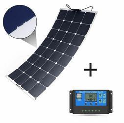 Solar Panel Charger 100W 18V 12V Water Shock Controller For
