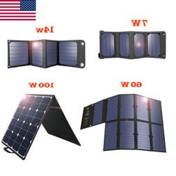 Suaoki Solar Panel Charger 7W 14W 60W 100W USB Sunpower Semi