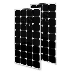 uxcell 2pcs 100W 18V 12V Solar Panel Charger Solar Cell Ultr