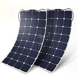 BougeRV 2PCS 100W 18V 12V Solar Panel Charger ETFE SunPower
