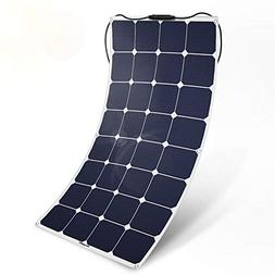 BougeRV 100W 18V Solar Panel Charger ETFE SunPower Cell Sola
