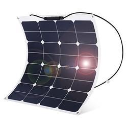 floureon 50W 18V 12V Solar Panel Charger SunPower Cell Ultra