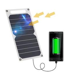 Lixada 10W Solar Panel Charger 5V USB Ports for Cell Phone H