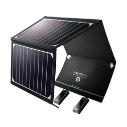 RAVPower Solar Panel Charger with Dual USB Port Waterproof F