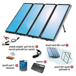 60-Watt Solar Panel Charging Kit with Charge Controller & In
