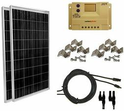 WindyNation 200 Watt  Solar Panel Complete Off-Grid RV Boat