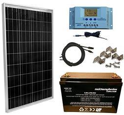WindyNation 100 Watt Solar Panel Complete Off-Grid RV Boat K