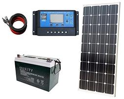 ECO-WORTHY 100 Watt Solar Panel Complete Off-Grid RV Boat Ki