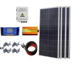 ECO-WORTHY 600W Solar Panel Complete System: 4pcs 150W Poly