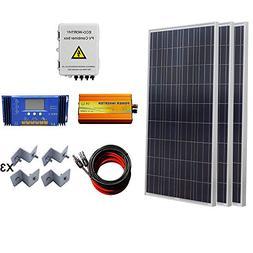 ECO-WORTHY 450W Solar Panel Complete System: 3pcs 150W Poly