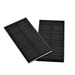 AOSHIKE 2Pcs 6V 1W Solar Panel DIY Photovoltaic Solar Cell C