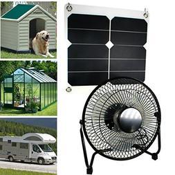 GOODSOZ 10W Solar Panel Fan Outdoor Home Chicken House RV Ca