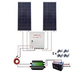 ECO-WORTHY 300 Watt Solar Panel Off Grid RV Boat Kit: 2pcs 1