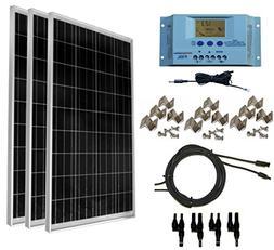 WindyNation 300 Watt  12V Solar Panel Off-Grid RV Boat Kit w