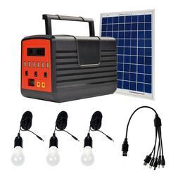 12V 10W Solar Panel  Home DC System Kit USB Solar Charger 3