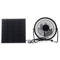 silverone 3W 6V Solar Panel Iron Fan 4 inch Cooling Ventilat