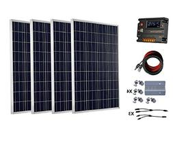 ECO-WORTHY 400 Watts  Solar Panel Kit With 20A LCD Charge Co