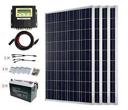 ECO-WORTHY 400W Solar Panel Kit for 12v and 24v Battery Char