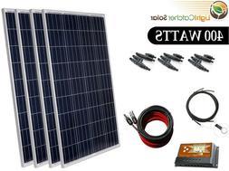 Solar Panel Kit 400 Watts 12-24v Polycrystalline Battery Cha