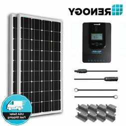Renogy 200W Mono Solar Panel Starter Kit 40A MPPT 12V 24V Ba