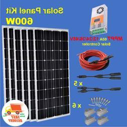 SOLAR PANEL KIT 600W Watt 600W Solar Panel + 12V 24V 36V 48V