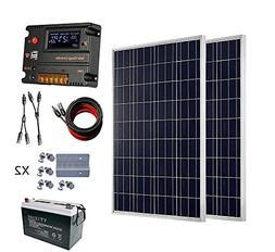 ECO-WORTHY 200 Watt  12V Solar Panel Kit + 20A Battery Charg