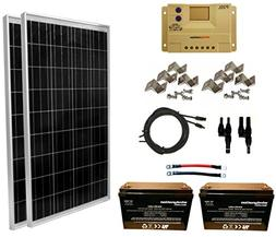 WINDYNATION 200 Watt Solar Panel Kit: 2pcs 100W Solar Panel