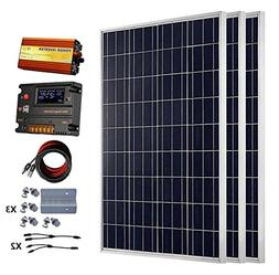 ECO-WORTHY 300 Watts  Solar Panel Kit With 20A LCD Charge Co