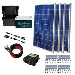 ECO-WORTHY 400W Solar Panel Kit: 4pcs 100W Solar Panel+ 20A
