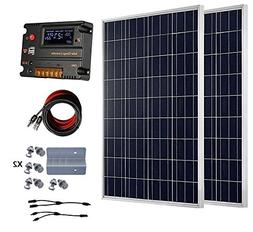ECO-WORTHY 200 Watt  12V Solar Panel Kit + 20A Battery Charg