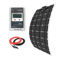 Giosolar 100 Watt Solar Panel Kit Battery Charger Monocrysta