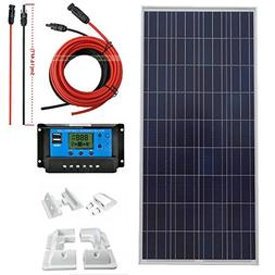ECO-WORTHY 150W Solar Panel Kit Charging 12V Battery Power W