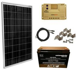 WindyNation 100 Watt Solar Panel Kit: 100W Solar Panel + 20A