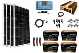 WindyNation 400 Watt  Solar Panel Kit + 1500 Watt VertaMax P